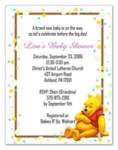 Free Printable Baby Shower Invitations | Winnie the Pooh Baby Shower Invitations