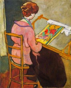 Needlepoint by Louis Valtat French painter associated with the Fauves Henri Matisse, Renoir, Maurice De Vlaminck, André Derain, Raoul Dufy, Pierre Bonnard, French Artists, Monet, Female Art