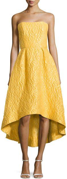 ML Monique Lhuillier Strapless High-Low Cocktail Dress, Sun BRIDEMAIDS