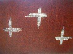 Vintage Japanese Katagami Stencil Cross in by VintageFromJapan, $35.00