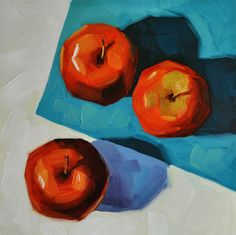 Sharon Schock Daily Paintings - Still Life, Landscapes, and Small Impressions: Three Galas - 6x6