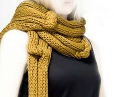 Twosquaremeter Knitwear is Apparel that Benefits the Skin #scarf trendhunter.com