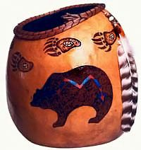 gourd art by Tim and Donna Morris