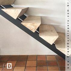 Que tal essa idéia de escada para sua casa? #ideiasparacasa #escada #designescada