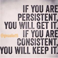 persistence, consistence