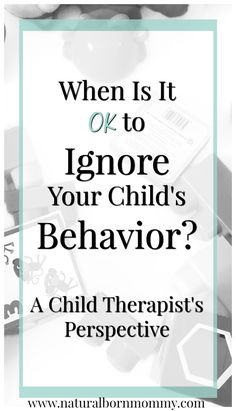 Do you want to get your kid to listen to you better? As a child therapist, I learned that it is OK to ignore children's behaviors at times. Check out this post to see how to use planned ignoring.  Plus, get a free course on dealing with temper tantrums.