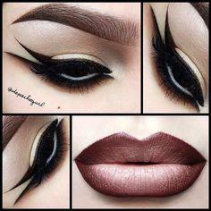 "#ShareIG  @looselipz_cosmetics ""Choco Latte"" Lipstick. MAC ""Bittersweet"" Pro Longwear Lip Liner  ""Myth"" Lipstick. Eyes - @nyxcosmetics ""Dance The Tides""  ""Happy Hour"" Eyeshadows, Black Gel  Liquid Liner, Brown Liquid Liner,  Light Wonder Pencil. @five11_cosmetics ""Star"" Under Eye Lashes. @kizmet #007 angled brush used for my brows  bottom liner."