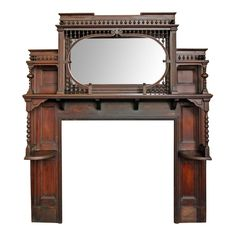 Victorian Stick and Ball Mantel | From a unique collection of antique and modern fireplaces and mantels at https://www.1stdibs.com/furniture/building-garden/fireplaces-mantels/