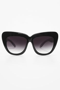 'Chelsea' Designer Inspired Cat Eye Sunglasses - Black #1026-1