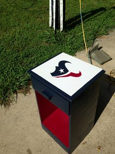 Houston Texans night stand custom order.