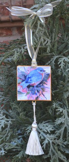 Bluebird Ornament / Bird Ornament / Bluebird by ArtistsHoliday