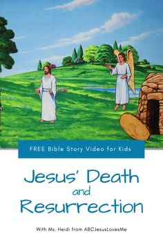 Enjoy an interactive Bible story by video and FREE activities for your preschool and elementary-aged child.  Your child will enjoy a Bible story, song, and memory verse time with Ms. Heidi.  #preschoolBible #ABCJesusLovesMe #BibletimewithMsHeidi #jesusdeathresurrection #preschooleaster Preschool Bible, Preschool Curriculum, Easter Activities, Free Activities, Jesus Resurrection, Memory Verse, Free Bible, Story Video