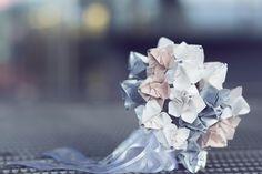 My origami wedding bouquet  Photo by: Nina Anic  Folded by: Vlatka Fric #bouquet #wedding #origami #paper #art #design