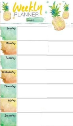 weekly planner pineapple weekly planner Get more photo about subject related with by looking at photos gallery at the bottom of… , Daily Planner Pages, Weekly Planner Printable, Study Planner, Planner Layout, Planner Template, Life Planner, Happy Planner, College Planner, Daily Planners
