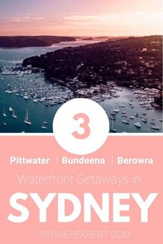 These favourite Sydney weekend getaways with waterfront views are all less than 90 mins from the city centre. If you are looking for a short break from Sydney these spots are ideal Visit Australia, Australia Travel, Fiji Travel, Travel Tips, Travel Ideas, Australia Destinations, Boat Hire, Sydney Beaches, Canoe And Kayak
