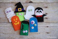 Marionetas de dedo para Halloween                                                                                                                                                                                 Más
