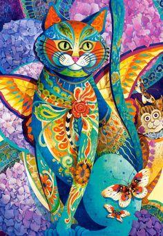 """David Galchutt """"the bon vivant"""" Original Fine Art Oil Painting x Psychedelic Art, Frida Art, Rug Hooking Patterns, Photo Chat, Cat Art, Fantasy Art, Illustration Art, Artwork, Etsy"""