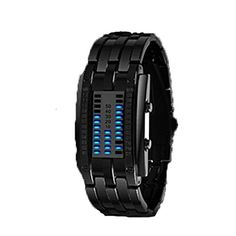 Deep Waterproof Creative Date Digital LED Luminous steel Men Women Bracelet Fashion Chic Watch Black Men -- More home décor info could be found at the image url.