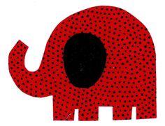 Elephant iron on fabric applique DIY. $2.50, via Etsy.