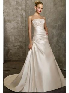 Satin wedding dresses look beautiful. Satin wedding gowns can be found in a lot of fantastic colors and shapes including green wedding dress Mori Lee Wedding Dress, Wedding Dress Train, Wedding Dress Sizes, Cheap Wedding Dress, Cheap Dress, Bridesmaid Dresses Uk, Wedding Dresses 2014, Bridal Dresses, Wedding Gowns