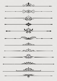 Borders and Dividers Design Elements Acab Tattoo, Black And White Art Drawing, Decorative Lines, Decorative Knots, Art Deco Borders, Vector Border, Divider Design, Tattoo Bracelet, Graphic Wallpaper