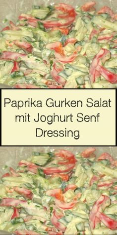 Paprika Gurken Salat mit Joghurt Senf Dressing Recipes Breakfast Video, Dinner Recipes Easy Quick, Vegetarian Recipes Dinner, Healthy Breakfast Recipes, Healthy Dinner Recipes, Healthy Family Dinners, Healthy Meals For One, Points Weight Watchers, Law Carb