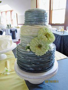 Fading Ruffles Wedding Cake