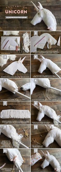 DIY Felt Stick Unicorn Horse