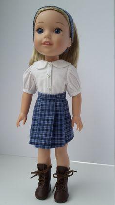 "14.5"" doll clothes - School uniform by Grandmasadiescloset on Etsy"