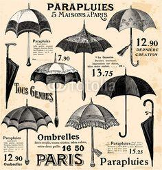 Vintage umbrella background