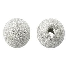 From Rio Grande: Sterling Silver 4mm Round Stardust Bead