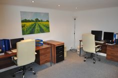 You'd never believe this photograph is the #interior of a Lienne MKII #GardenOffice. It looks as though it could be any office, in any building!  The professional finish means anyone visiting your #homeoffice will be impressed with your set up!