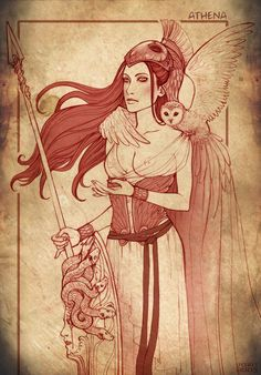Athena by DoroxDoro on deviantART > Fantastic artwork of classic Greek gods and goddesses. Check out the rest.