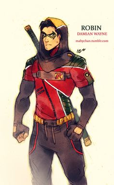 ROBIN (Damian Wayne) Outfit by Maby-chan.deviantart.com on @deviantART