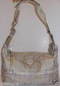 COACH 17209 TARTAN PLAID SIGNATURE HOBO TOTE NWT + FREE GIFT Buy for $120