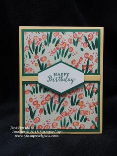 #imbringingbirthdaysback – Garden Impressions Birthday Card Tutorial | Stamp, Scrap & Create with Me
