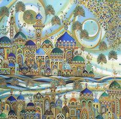 الفنان التشكيلي العراقي مهند السمير Winter Christmas Scenes, Moroccan Art, Bagdad, Building Art, Arabic Art, Arabian Nights, Calligraphy Art, Islamic Art, Indian Art