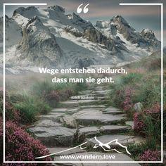 Wege entstehen dadurch, dass man sie geht. Erich Kästner  #wandern #wanderninösterreich #berge #hiking #wanderlust #nature #hike #alpen #austria #mountains #bergwelten #wanderung #bergsteiger #visitaustria #igmountains #bergliebe #theglobewanderer #discoveraustria #wandersprüche #lifeofadventure #feelaustria #travel #theoutdoorpassion #alps #landscape #ig_austria #feelthealps #feelaustria #1000thingsinaustria #beautifulaustria Wander Quotes, Land Scape, Wanderlust, Mountains, Nature, Travel, Mountain Climbers, Alps, Voyage