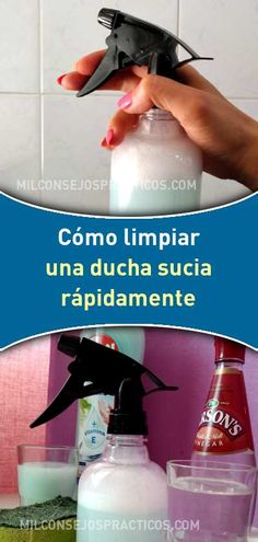 Cómo limpiar una ducha sucia rápidamente Cleaning Recipes, House Cleaning Tips, Cleaning Hacks, Cleaning Supplies, Africa Art, Household Chores, So Creative, Bathroom Cleaning, Spray Bottle