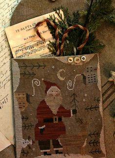 Cross Stitch Pattern  In Santa Claus Land by FiddlestixDesign