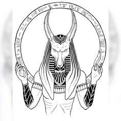 Egyptian Anubis Tattoo Design