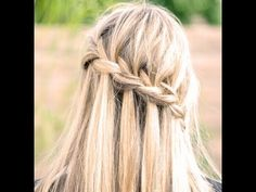 How-to-do a Waterfall braid