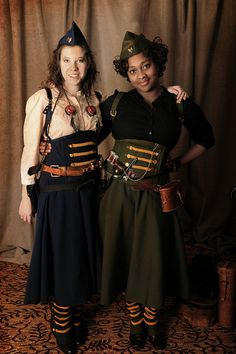Ladies military steampunk - turn of the century - world war I