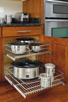 Rev-A-Shelf Two-Tier Chrome Wire Baskets - Kitchen Organization - Storage & Organization - Storage & Display | HomeDecorators.com