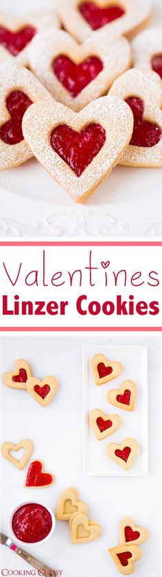 Heart Linzer Cookies - these cookies taste heavenly! Perfect for Valentines Day!