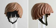 Someone Made A Real-Life LEGO Hair Bike Helmet That Turns You Into A LEGO Figure. The awesome design was the brainchild of Simon Higby and Clara Prior, two employees from the Stockholm and Copenhagen offices of worldwide advertising agency DDB.
