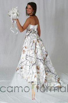 b5281302e32f4 White camo wedding dress White Camo Wedding Dress, Camo Wedding Dresses,  Cowgirl Wedding,