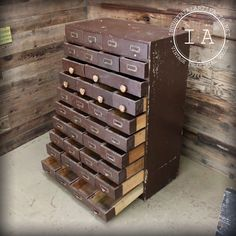 Vintage Wooden 39 Drawer Card Catalog - What a beautiful piece. And all that organized storage! Wonder if I could build something like this...