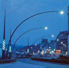 Quais du port – Yann Kersalé, AIK – Cherbourg, France (1994)