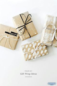 Get in the holiday spirit! As you're buying gifts, add a personal touch with Unique 50 Christmas gift wrapping ideas! Upcycled Kraft Paper Gift Wrapping Ideas From: The Found and The Fancy How to P… Creative Gift Wrapping, Creative Gifts, Diy Wrapping, Simple Gift Wrapping Ideas, Gift Wrapping Ideas For Birthdays, Birthday Wrapping Ideas, Brown Paper Wrapping, Diy Holiday Gifts, Diy Gifts